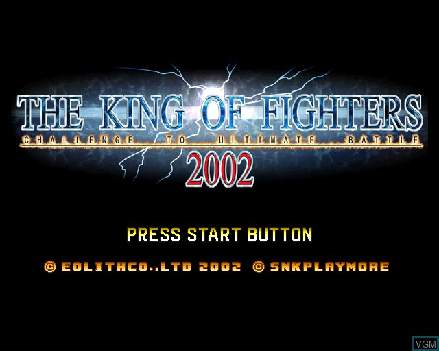 Title screen of the game King of Fighters 2002, The on Sony Playstation 2