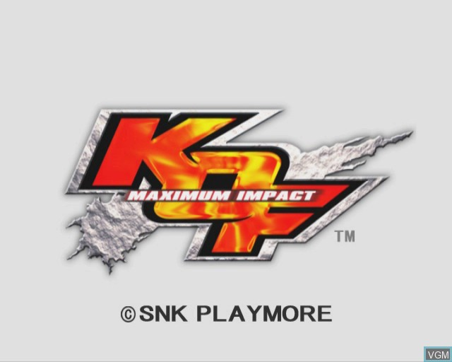 Title screen of the game King of Fighters - Maximum Impact on Sony Playstation 2