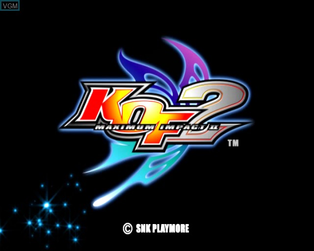 Title screen of the game King of Fighters - Maximum Impact 2 on Sony Playstation 2