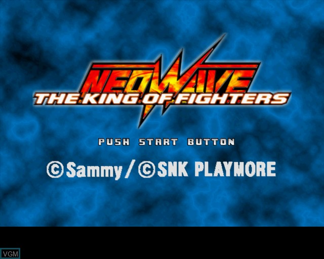 Title screen of the game King of Fighters NeoWave, The on Sony Playstation 2