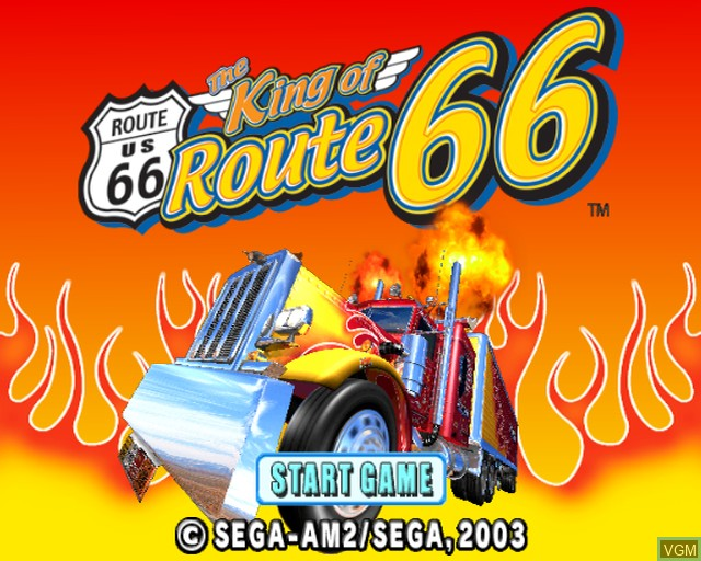 Title screen of the game King of Route 66, The on Sony Playstation 2