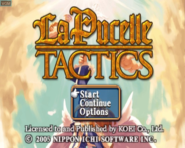 Title screen of the game La Pucelle - Tactics on Sony Playstation 2