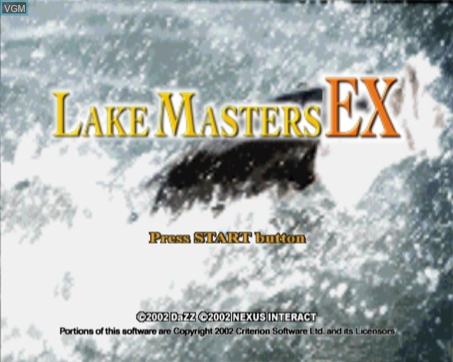 Title screen of the game Lake Masters EX on Sony Playstation 2