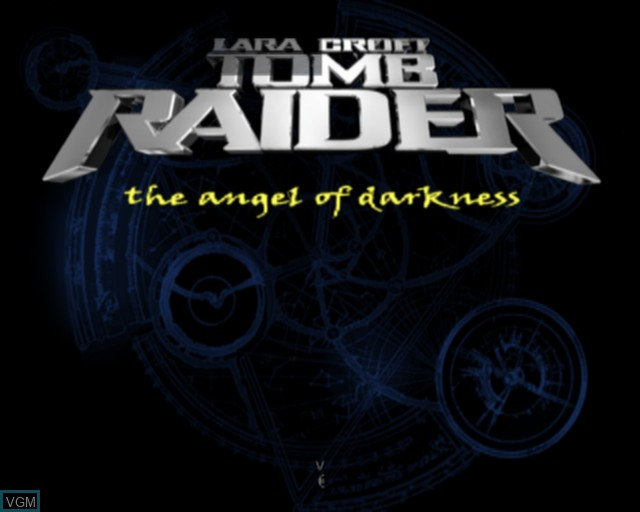 Title screen of the game Lara Croft Tomb Raider - The Angel of Darkness on Sony Playstation 2