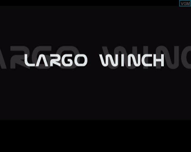 Title screen of the game Largo Winch - Empire Under Threat on Sony Playstation 2