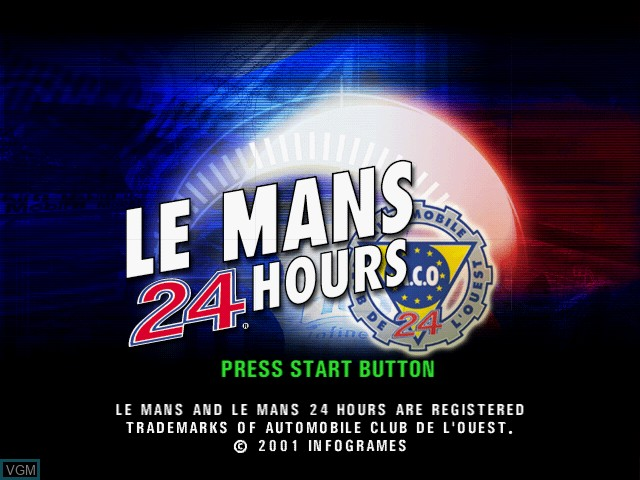 Title screen of the game Le Mans 24 Hours on Sony Playstation 2