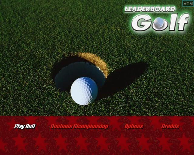Title screen of the game Leaderboard Golf on Sony Playstation 2