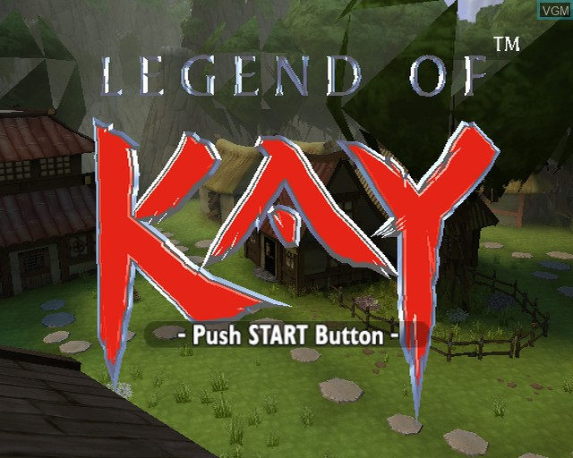 Title screen of the game Legend of Kay on Sony Playstation 2