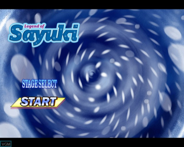 Title screen of the game Legend of Sayuki on Sony Playstation 2