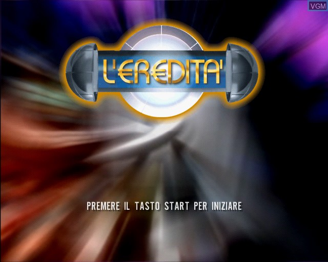 Title screen of the game L'eredita on Sony Playstation 2