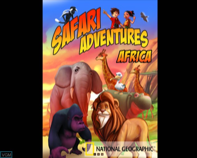 Title screen of the game Safari Adventures Africa on Sony Playstation 2