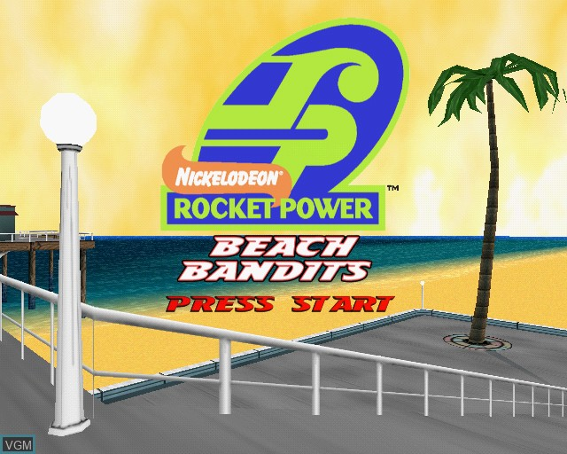 Title screen of the game Rocket Power - Beach Bandits on Sony Playstation 2