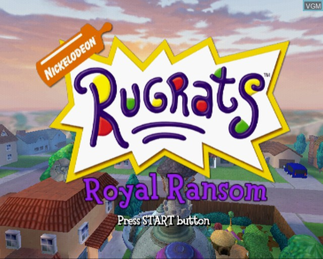 Title screen of the game Rugrats - Royal Ransom on Sony Playstation 2