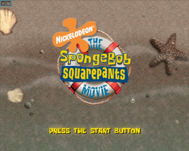Title screen of the game SpongeBob SquarePants Movie, The on Sony Playstation 2