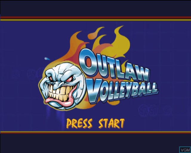Title screen of the game Outlaw Volleyball Remixed on Sony Playstation 2