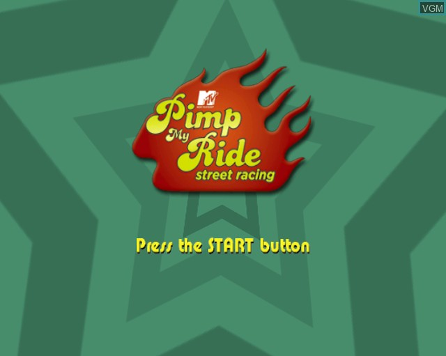 Title screen of the game Pimp My Ride - Street Racing on Sony Playstation 2