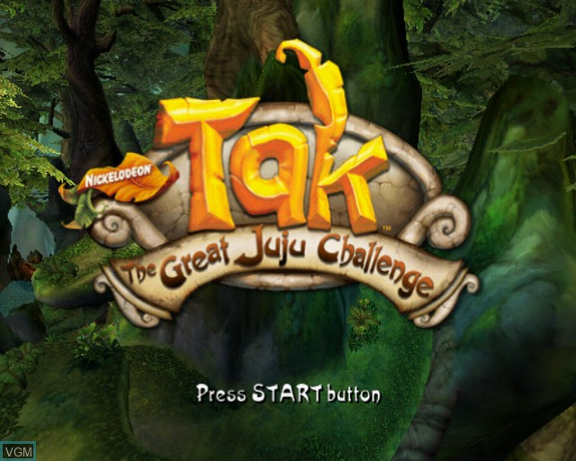Title screen of the game Tak - The Great Juju Challenge on Sony Playstation 2