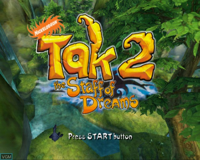 Title screen of the game Tak 2 - The Staff of Dreams on Sony Playstation 2