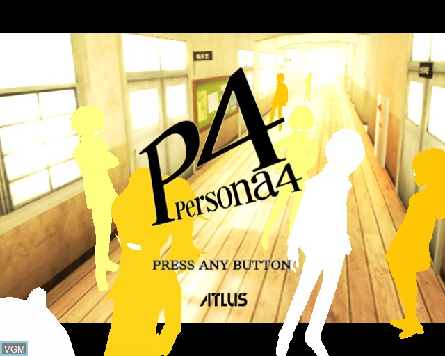 Title screen of the game Shin Megami Tensei - Persona 4 on Sony Playstation 2
