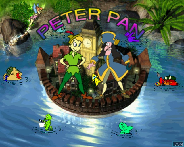Title screen of the game Peter Pan on Sony Playstation 2