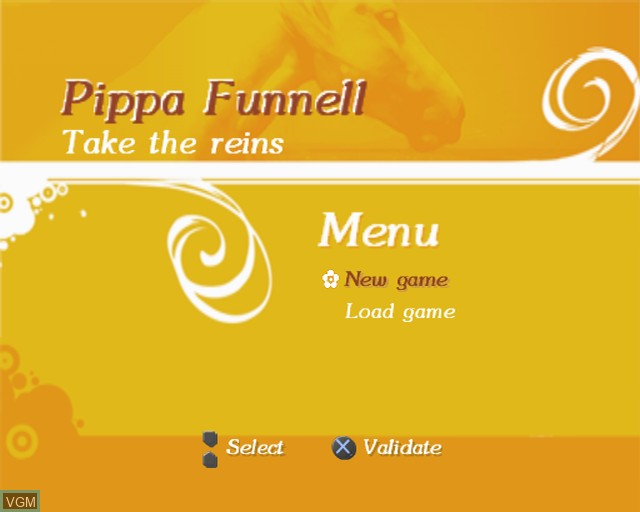 Title screen of the game Pippa Funnell - Take the Reins on Sony Playstation 2