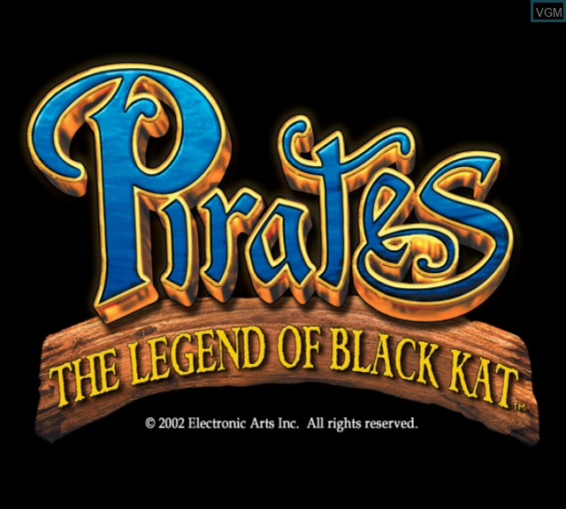Title screen of the game Pirates - The Legend of Black Kat on Sony Playstation 2