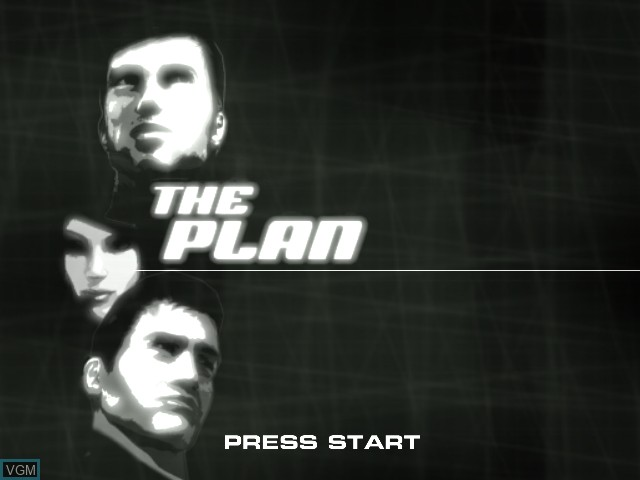 Title screen of the game Plan, The on Sony Playstation 2