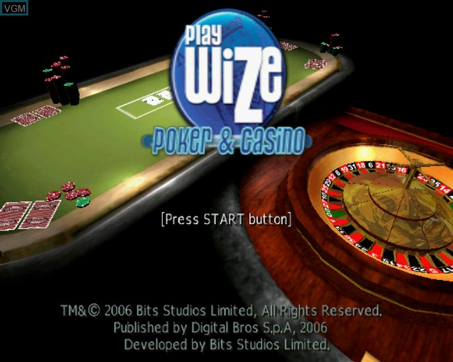 Title screen of the game Playwize Poker & Casino on Sony Playstation 2