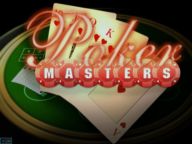 Title screen of the game Poker Masters on Sony Playstation 2