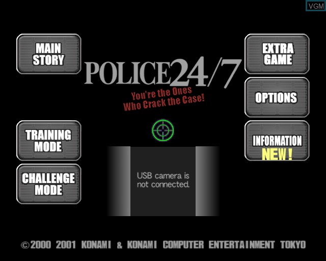 Title screen of the game Police 24/7 on Sony Playstation 2