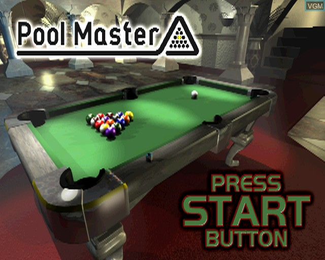 Title screen of the game Pool Master on Sony Playstation 2