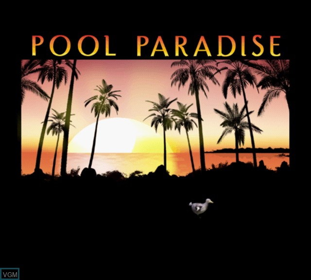 Title screen of the game Pool Paradise - International Edition on Sony Playstation 2