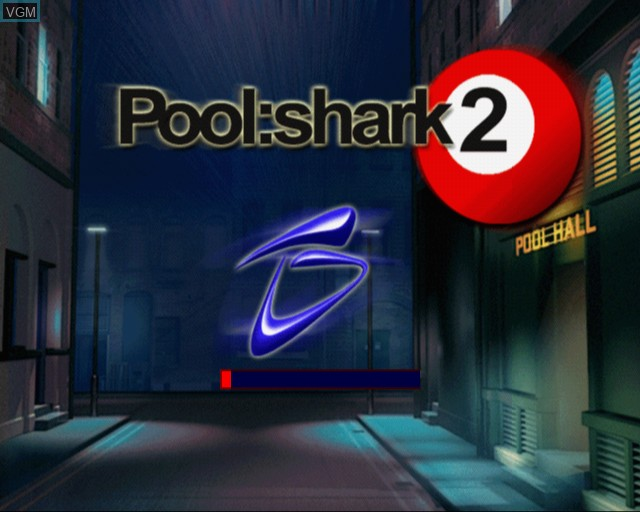 Title screen of the game Pool Shark 2 on Sony Playstation 2
