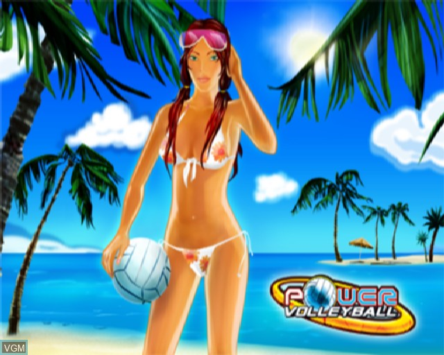 Title screen of the game Power Volleyball on Sony Playstation 2