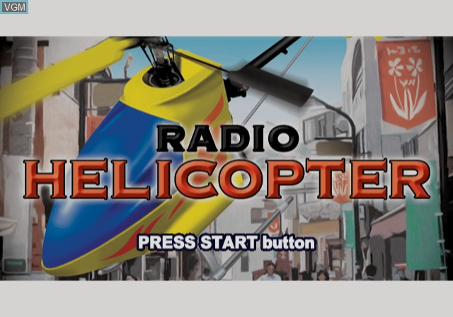 Title screen of the game Radio Helicopter on Sony Playstation 2