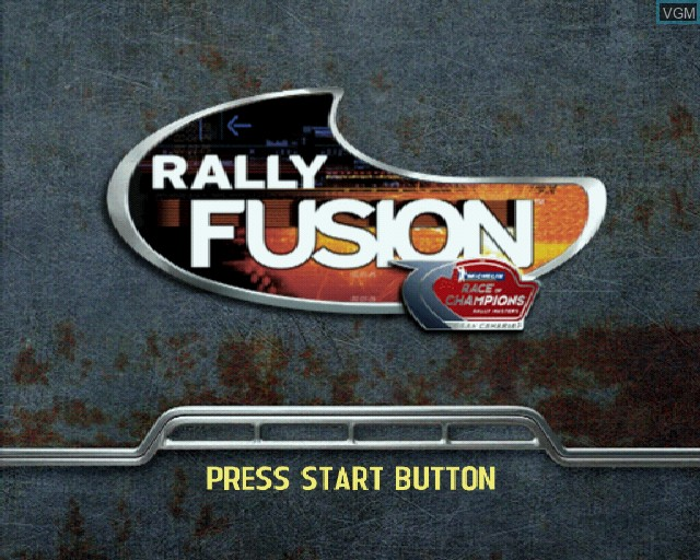 Title screen of the game Rally Fusion - Race of Champions on Sony Playstation 2