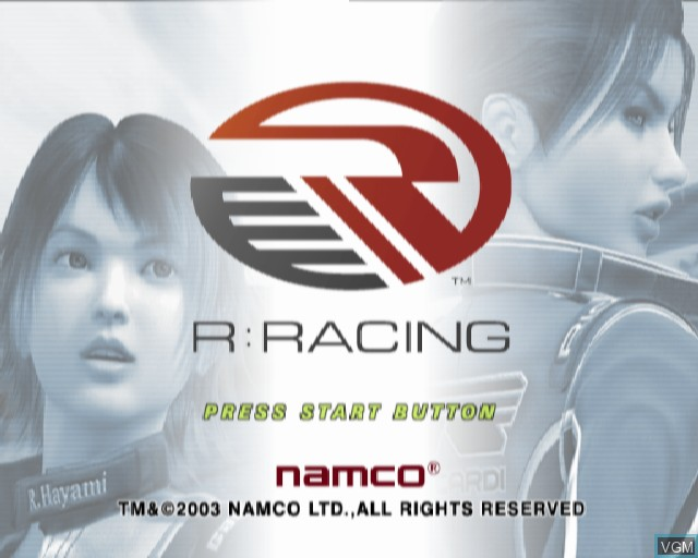 Title screen of the game R - Racing on Sony Playstation 2