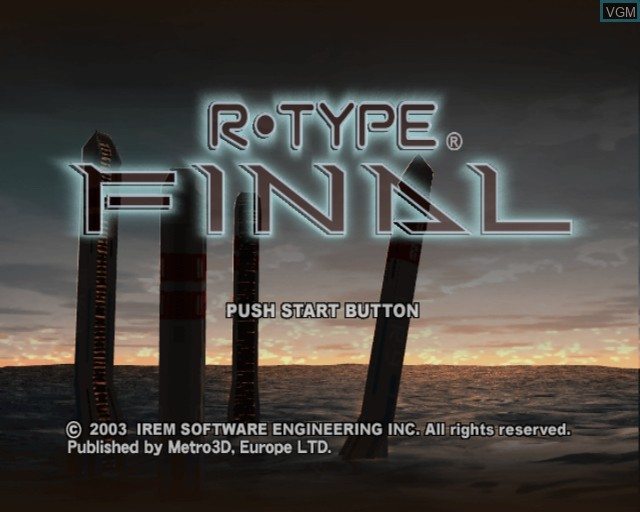 Title screen of the game R-Type Final on Sony Playstation 2