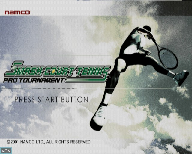 Title screen of the game Smash Court Tennis Pro Tournament on Sony Playstation 2