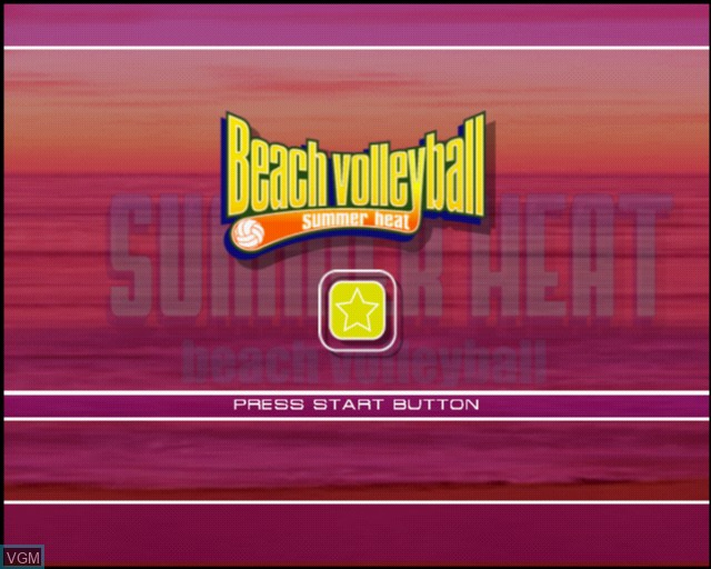 Title screen of the game Summer Heat Beach Volleyball on Sony Playstation 2