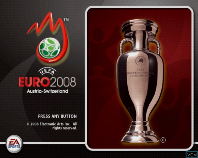 Title screen of the game UEFA EURO 2008 - Austria-Switzerland on Sony Playstation 2