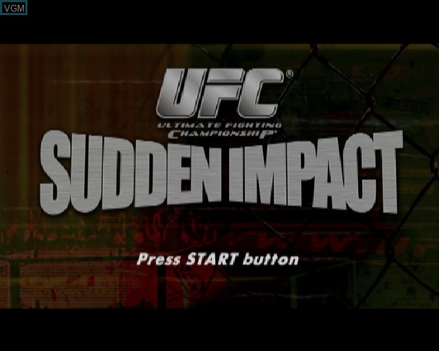 Title screen of the game UFC - Sudden Impact on Sony Playstation 2