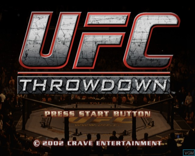 Title screen of the game Ultimate Fighting Championship - Throwdown on Sony Playstation 2