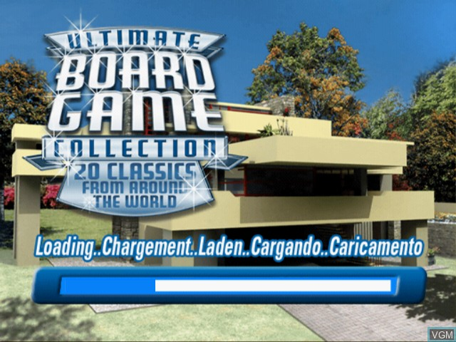 Title screen of the game Ultimate Board Game Collection on Sony Playstation 2