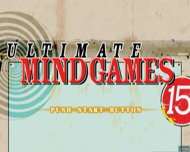 Title screen of the game Ultimate Mind Games on Sony Playstation 2