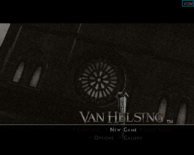 Title screen of the game Van Helsing on Sony Playstation 2