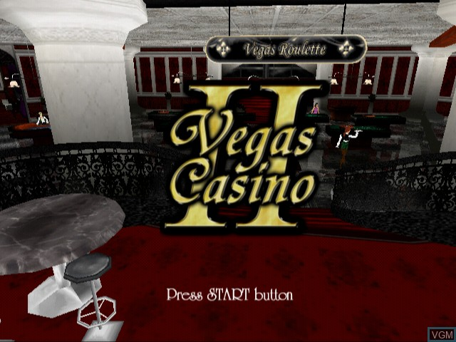 Title screen of the game Vegas Casino 2 on Sony Playstation 2