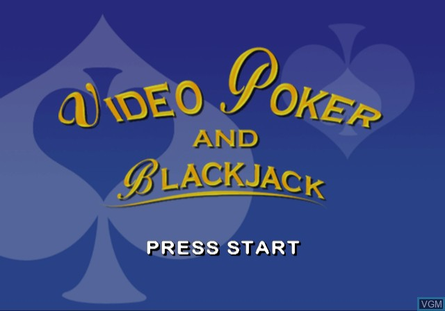 Title screen of the game Video Poker & Blackjack on Sony Playstation 2