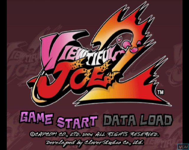 Title screen of the game Viewtiful Joe 2 on Sony Playstation 2