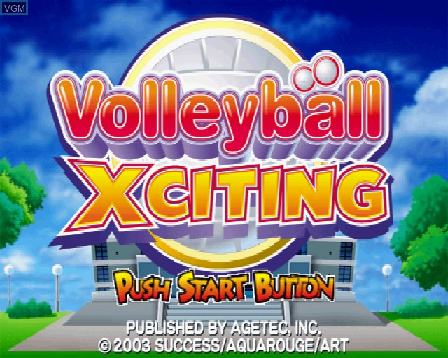 Title screen of the game Volleyball Xciting on Sony Playstation 2